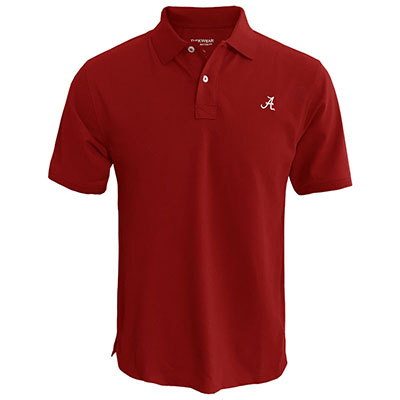 Clearance - Stretch Pique Polo With Script A