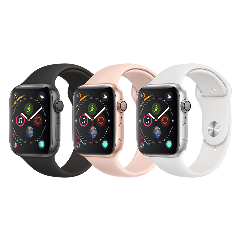 the best attitude 1470d cf088 Apple Watch Series 4 Gps Aluminum Case With Sport Band