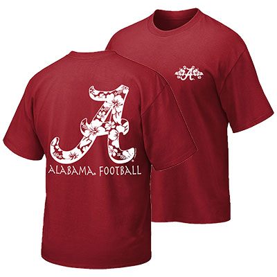 Alabama Hawaiian Script A T-Shirt