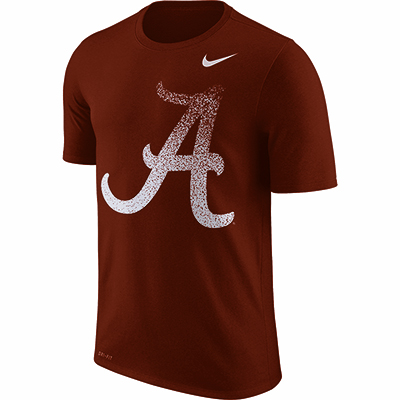 Alabama Nike Men's Dry Legend Short Sleeve Fade T-Shirt