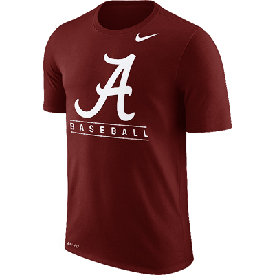 Alabama Nike Short Sleeve Legend Team Baseball Issue T-Shirt