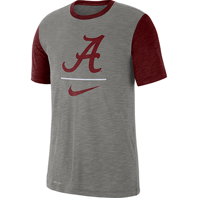 d214bffcfee5 Nike Alabama Men s Short Sleeve Dri-Fit Cotton Slub T-Shirt