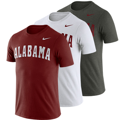 0cb46e73df52 Alabama Nike Men s Short Sleeve Dri-Fit Cotton Word T-Shirt
