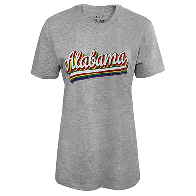 Alabama Melange Rainbow Script T-Shirt