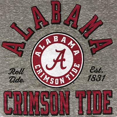 ALABAMA CRIMSON TIDE BISHOP CROP T-SHIRT