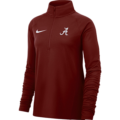 Alabama College Women's Nike Long Sleeve Half Zip