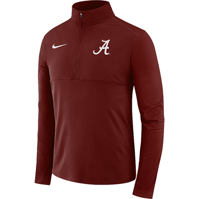 Alabama Men's Nike Long Sleeve Half Zip Core