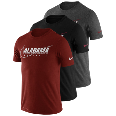Alabama Football Drifit Cotton Facility Nike Short Sleeve T-Shirt