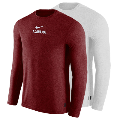 Alabama Nike Dry Long Sleeve Coaches T-Shirt