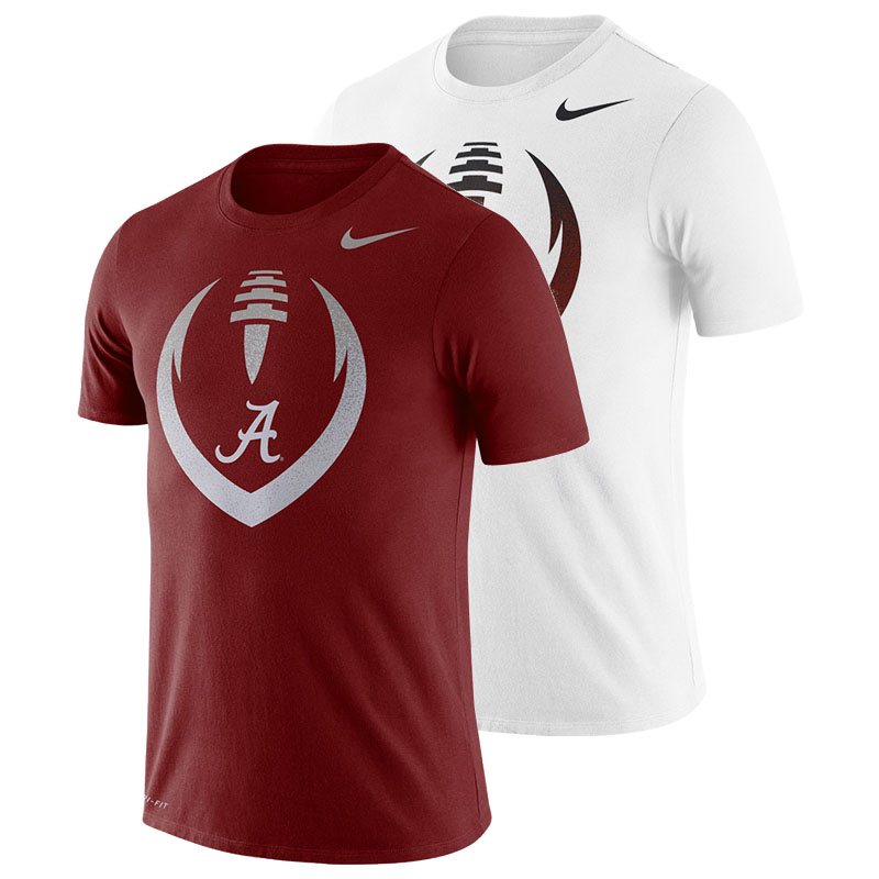 Alabama Football Icon Nike Short Sleeve Dri-Fit Cotton T-Shirt (SKU 13208714158)
