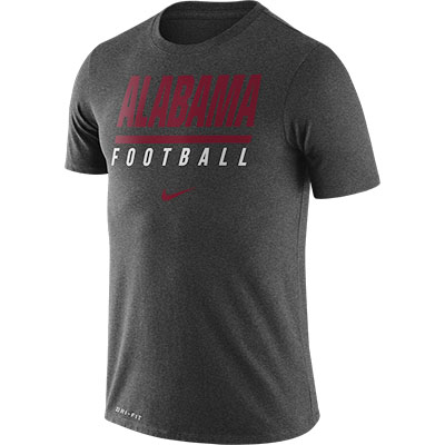 ALABAMA FOOTBALL NIKE DRIFIT COTTON ICON WORDMARK T-SHIRT