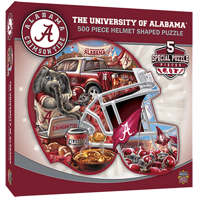 Alabama Helmet Shaped Puzzle