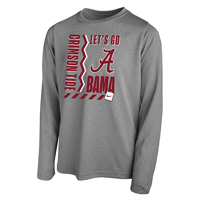 Nike Youth Let's Go Bama Dri-Fit Legend 2.0 Long Sleeve T-Shirt