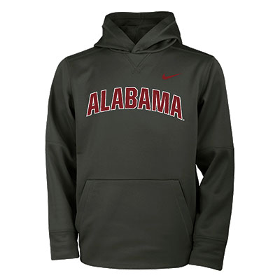 Alabama Nike Youth Therma Pullover Hoodie