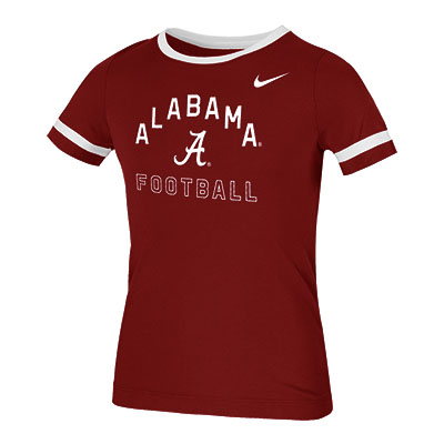 Alabama Football Girl's Fan Ringer T-Shirt