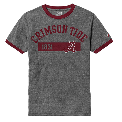 League Crimson Tide 1831 Victory Falls Ringer T-Shirt