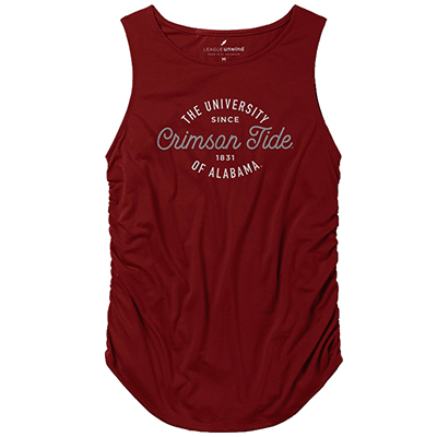 Crimson Tide Unwind Gathered Side Tank