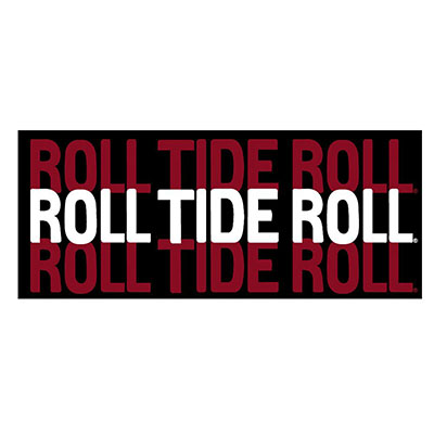 "Roll Tide Roll 6"" Mini Bumper Magnet"