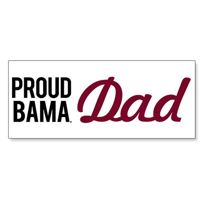 "Proud Bama Dad 6"" Mini Bumper Decal"