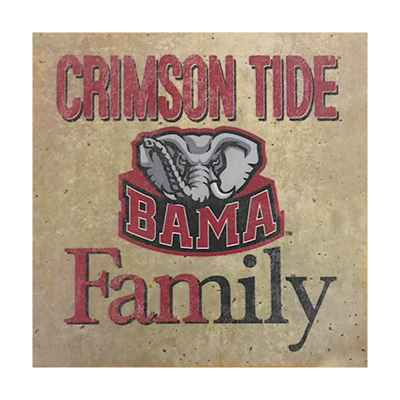 Alabama Crimson Tide Family Wall Hanging