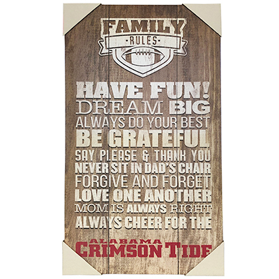 Alabama Crimson Tide Family Rules