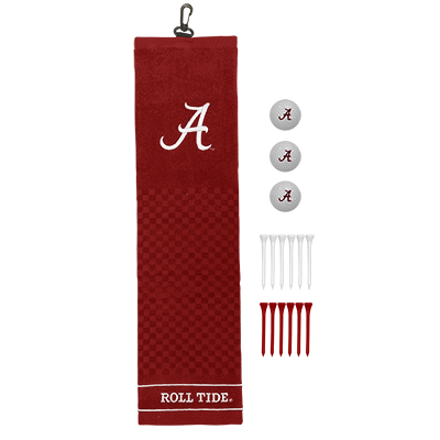 Alabama Embroidered Towel Golf Gift Set