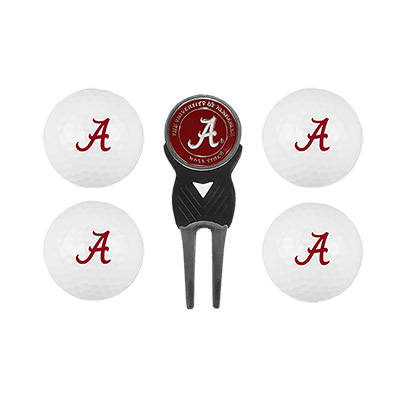 4 Ball Alabama Golf Gift Set