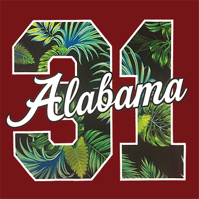 ALABAMA '31 HIBISCUS HAWAIIAN T-SHIRT