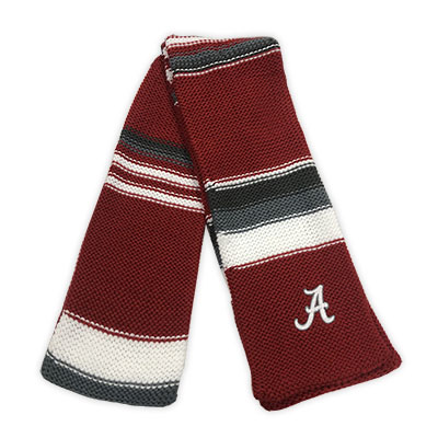 Alabama Three Color Striped Iced Scarf