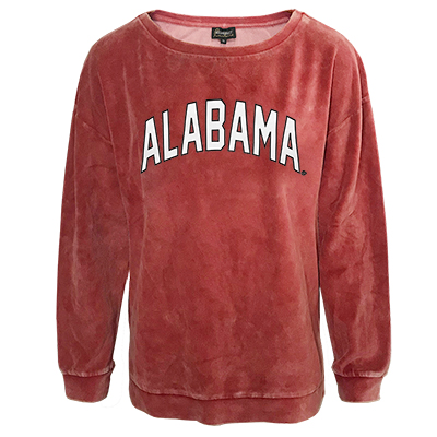 Alabama Now And Zen Vintage Overdyed Velour Pullover