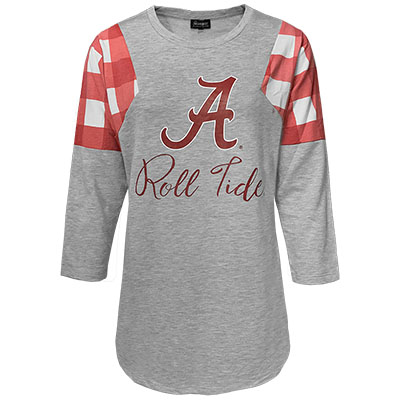 Get In Check Script A Roll Tide French Terry Tunic