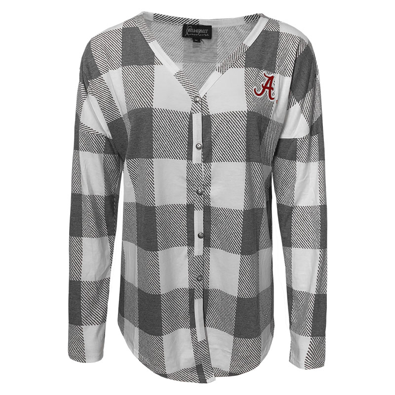 Alabama Script A Check Your Facts Button-Down Tie Top (SKU 1324021941)
