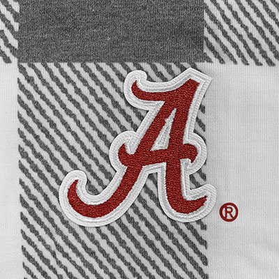 ALABAMA SCRIPT A CHECK YOUR FACTS BUTTON-DOWN TIE TOP