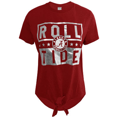 Roll Tide Victory Front Tie Foil T-Shirt