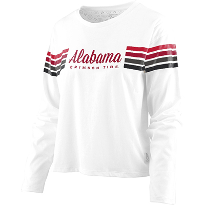 Alabama Crimson Tide Long Sleeve Crop T-Shirt