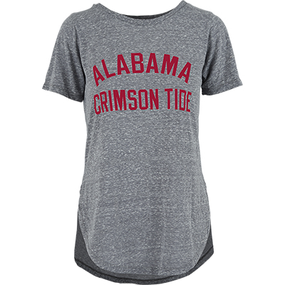Alabama Crismon Tide Knobbi Rounded Crew T-Shirt