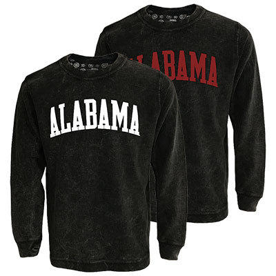Alabama Comfy Cord White Lettering