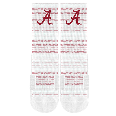 Script A Full Sublimated Crew Sock With Roll Tide