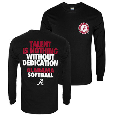 Alabama Softball Leave It All Long Sleeve T-Shirt