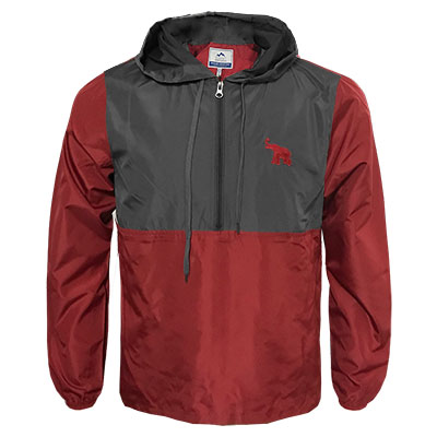 Alabama Elephant 1/4 Zip Color Block Anorak Rain Jacket