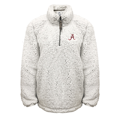 Alabama Script A Youth Sherpa 1/4 Zip