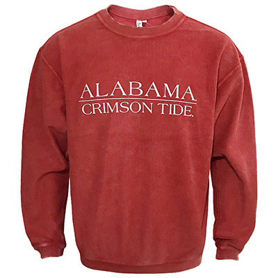 Alabama Crimson Tide Corded Sweatshirt With Bar Design