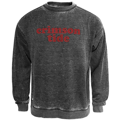 Alabama Campus Crew Sweatshirt With Retro Font