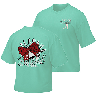 Youth Alabama Baseball And Bows T-Shirt
