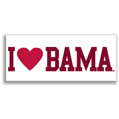 I Love Bama Decal