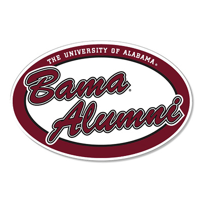 Oval Bama Alumni Decal