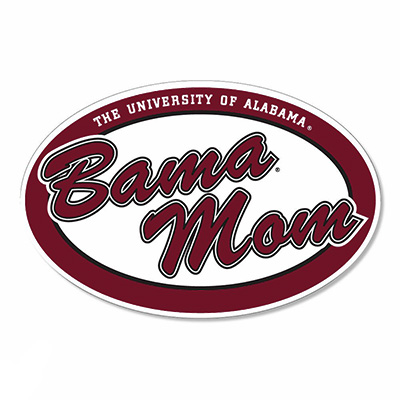 Oval Bama Mom Decal