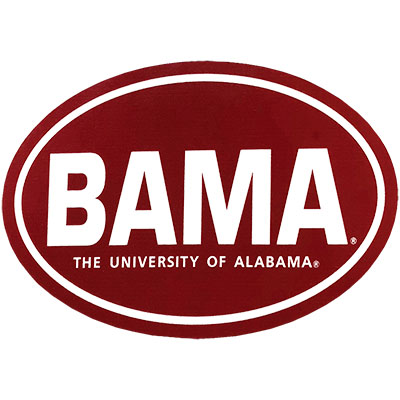 Oval Red Bama Decal
