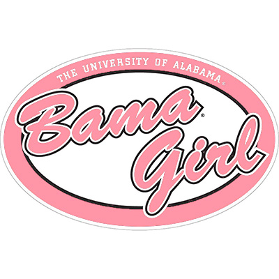 Oval Bama Girl Pink Decal