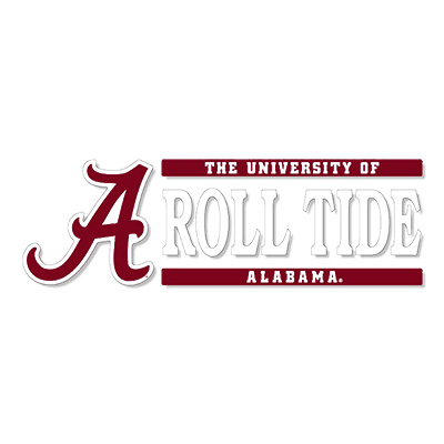 Script A The University Of Alabama Vinyl Decal